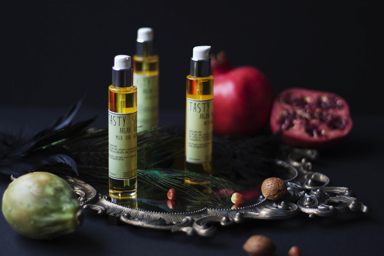 Tasty Skincare argan olie + sfeer