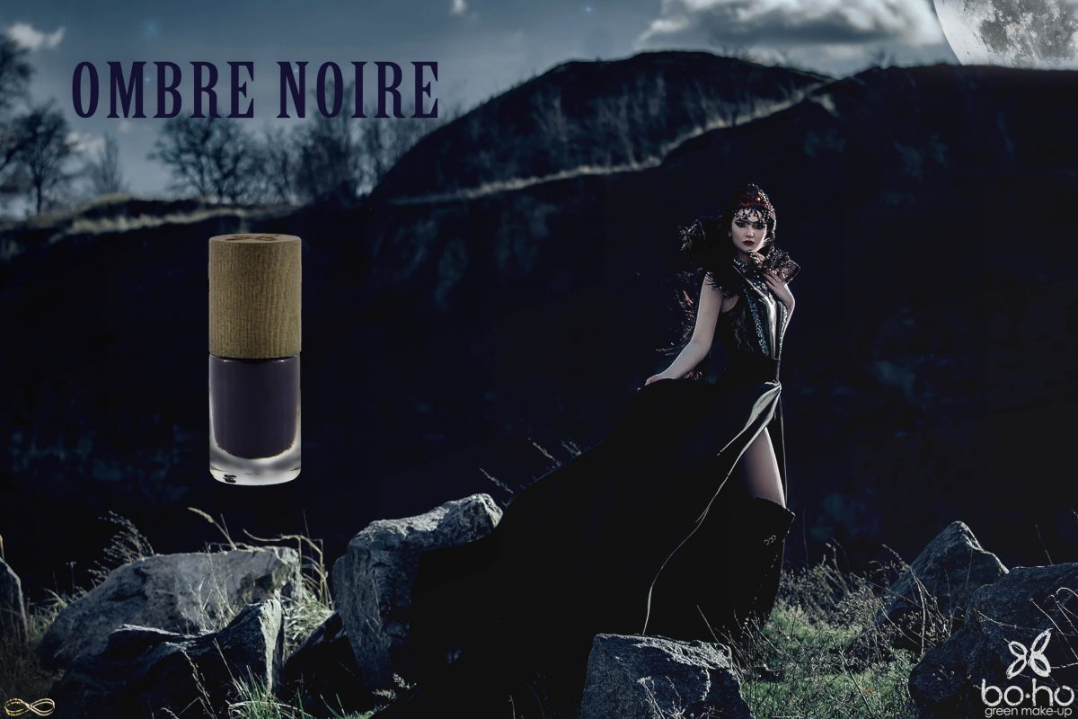 donkere natuurlijke nagellak