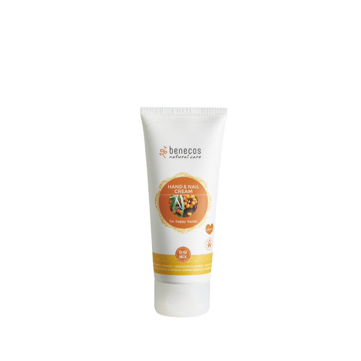 benecos Hand_Nail Cream Sanddorn_Orange sea buckthorn_orange hr